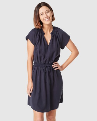 French Connection Short Sleeve Lyocell Mini Dress