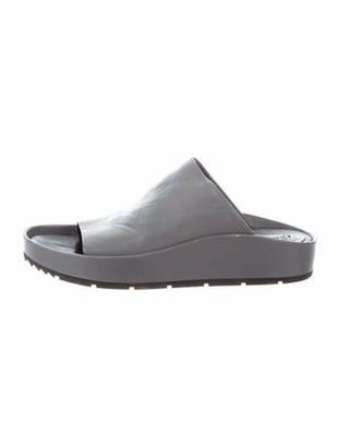 Balenciaga Leather Slides Grey