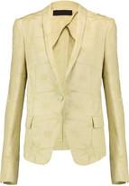 Haider Ackermann Linen and silk-blend jacquard blazer