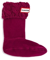 Hunter Girls' Cable-Knit Cuff Fleece Boot Socks - Toddler, Little Kid, Big Kid