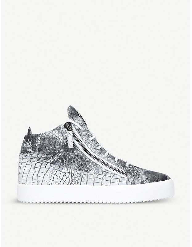 Giuseppe Zanotti Kriss leather mid-top trainers