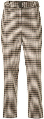 Brunello Cucinelli Checked Cropped Trousers