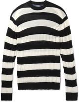 Junya Watanabe - Distressed Striped Cotton Sweater