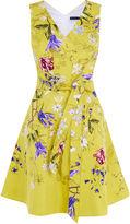 Karen Millen Yellow Floral A-line Dress