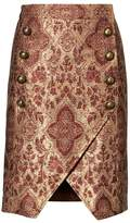 Banana Republic x Olivia Palermo | Metallic Brocade Military Skirt