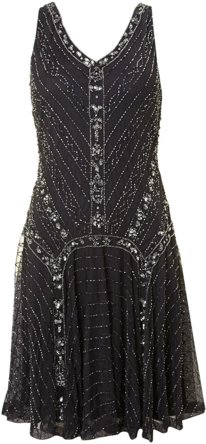 Thumbnail for your product : House of Fraser Shubette Short Beaded Flapper Dress