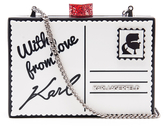 Karl Lagerfeld Women's Postcard Minaudiere Bag White