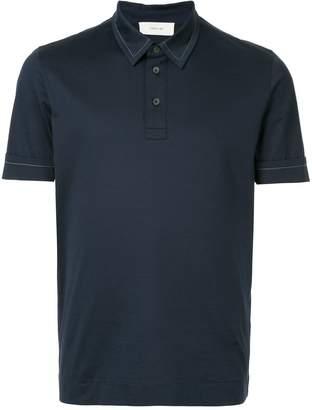Cerruti contrast-stitched polo shirt