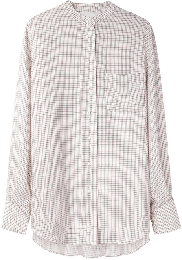 3.1 Phillip Lim Band Collar Check Shirt