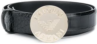 Emporio Armani Logo-Plaque Adjustable Belt