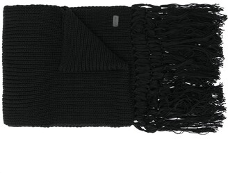 Saint Laurent Knitted Long Scarf