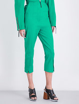 Marni Cropped cotton-twill trousers