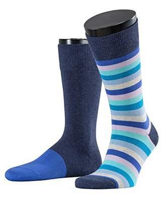 Esprit Multi Stripe Men's Socks,6/8 (Pack of 2)