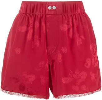Zadig & Voltaire x NBA elasticated lace-hem silk shorts
