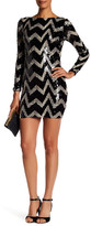 Dress the Population Lola Chevron Sequined Minidress