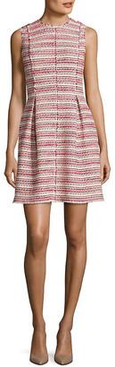 Rebecca Taylor Optic Tweed A-Line Dress