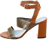 Studio Pollini Leather Multistrap Sandals
