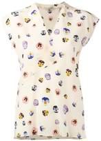 Christopher Kane ditsy pansy print blouse