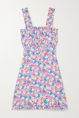 Faithfull The Brand + Net Sustain Mid Summer Floral-print Crepe Mini Dress - Lilac