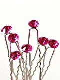 ASC Wedding Hair Accessories for Women, Bridal Hair Pins and Clips (Rose, Pack of 5)