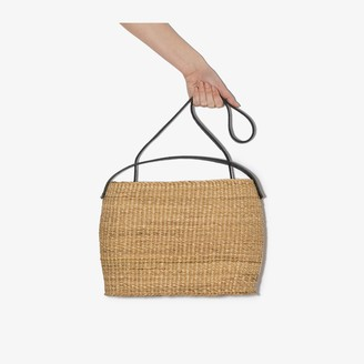 Inès Bressand Neutral Akamae N.20 Straw Bucket Bag