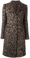 Tagliatore leopard print coat