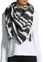 BCBGeneration Striped Fringed Wrap
