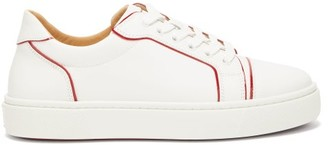 Christian Louboutin Vieirissima Trimmed Leather Trainers - Red White