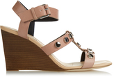 Balenciaga Stud-embellished leather wedge sandals