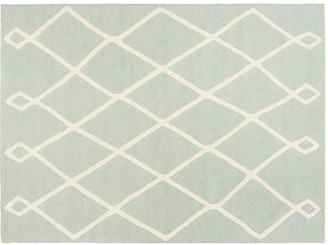 One Kings Lane Fiiu Kids' Rug - Mint/Ivory - 3'x5'