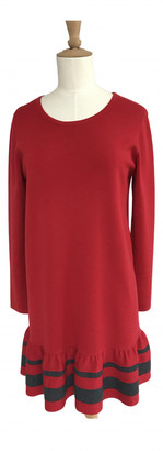 Paule Ka Red Wool Dresses