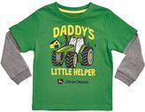 """John Deere Baby Boy Daddy's Little Helper"""" Skater Tee"""