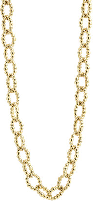 Lagos Caviar Small Fluted Oval Link Necklace, 18""