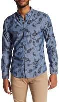 BOSS Reid Velvet Paisley Slim Fit Shirt
