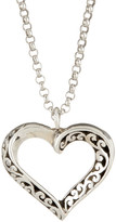 Lois Hill Sterling Silver Signature Cutout Heart Pendant Necklace