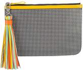 Pierre Hardy checkered print pouch clutch bag with tassel detail