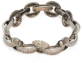 Silver & 2.25 Total Ct. Brown Diamond Link Bracelet
