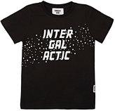 "Someday Soon ""Intergalactic"" Cotton Jersey T-Shirt-BLACK"