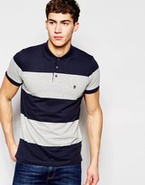 French Connection Bold Wide Stripe Polo Shirt