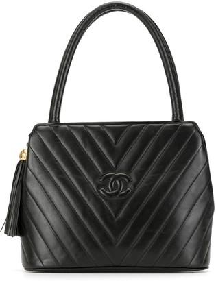 Chanel Pre Owned 1992 Chevron stitch tote