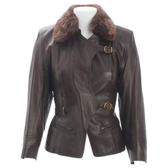 Hermes Brown Leather Leather jackets