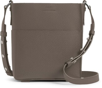 AllSaints Adelina Small Pebbled Leather Tote