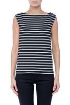 Saint Laurent Breton-stripe Sleeveless T-shirt