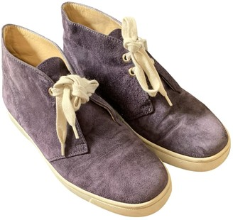 Christian Louboutin Purple Suede Boots