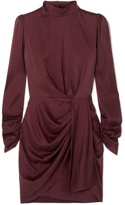 Zimmermann Draped Washed Stretch-silk Mini Dress