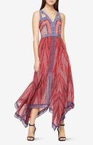 BCBGMAXAZRIA Aba Mosaic-Print Maxi Dress