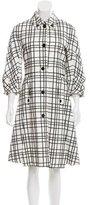 Gucci Short Sleeve Plaid Coat
