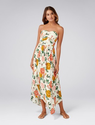 Forever New Ashby Strapless Maxi Dress - Blooms Print - 4