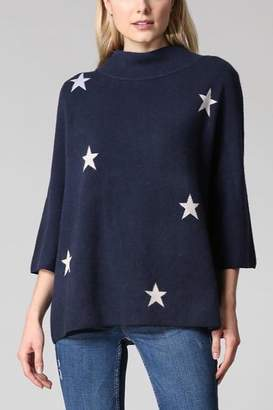 Fate MOCK NECK PULLOVER SWEATER WITH STARS