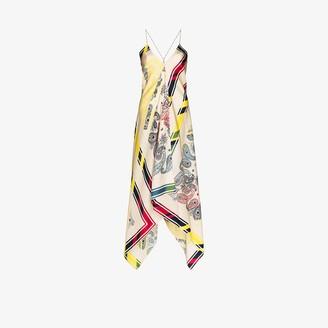 Golden Goose Blacket Bandana Silk Dress